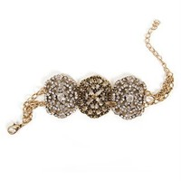 Rhinestone Filigree Vintage Bracelet