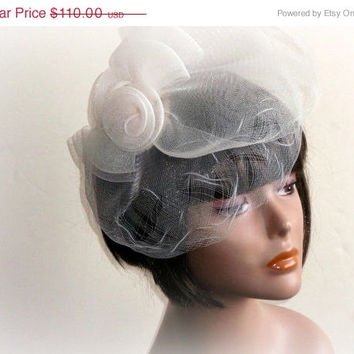 Christmas Sale Crinoline hat Bridal headpiece Hair accessories bridal headpiece