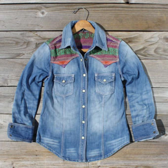 Heritage Denim Jacket, Sweet Navajo Inspired Clothing
