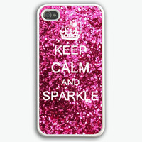 Keep Calm and sparkle iPhone 4 Case, iPhone 4s Case, iPhone 4 Hard Case, iPhone Case