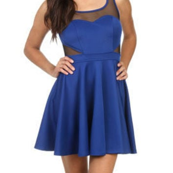 Mesh Fit N Flare Dress | Shop Dresses at Arden B