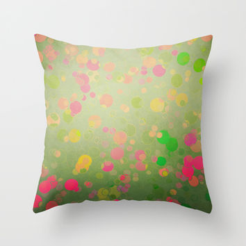 Funny Bubbles Throw Pillow by SensualPatterns