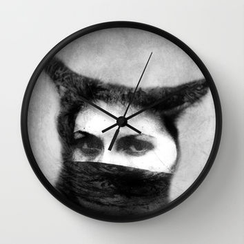 Where's Your Head At  Wall Clock by SensualPatterns