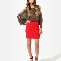 THML Dress - Red Dress - Print Dress - $70.00