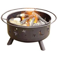 Starry Night Gas Outdoor Fire Pit