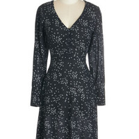 ModCloth Vintage Inspired Long Long Sleeve A-line Show of Dandelions Dress