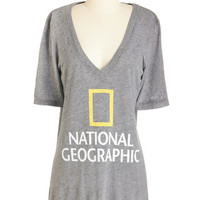 ModCloth Nifty Nerd Long Short Sleeves Sightseeing Set on You Tee