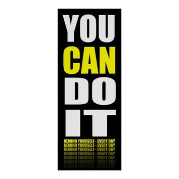 You Can Do It (yellow) Motivational