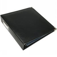 We R Memory Keepers 8-1/2-Inch by 11-Inch Faux Leather 3-Ring Binder, Black