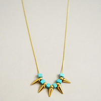 KAITLYN NECKLACE - GOLD/ TURQUOISE / NECKLACE