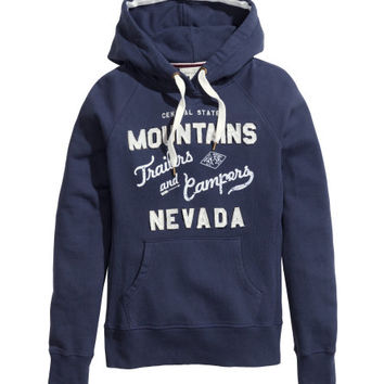Hooded top with a print - from H&M