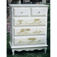 Toile Five Drawer French Chest : Drawer Chests at PoshTots
