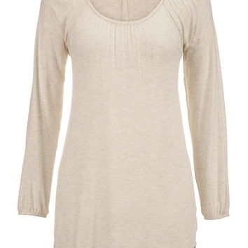 oatmeal long sleeve lightwieght tunic