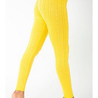 Acrylic Blend Cable KnitLegging