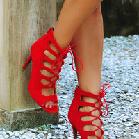 So Far So Good Heels: Red