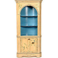 Victoria Corner Cupboard - China Cabinets & Buffets - Dining Room, Kitchen & Bar - Furniture - PoshLiving