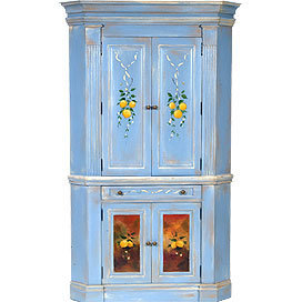 Brie Corner Cabinet - Armoires &amp; Media - Accent Furniture - Furniture - PoshLiving