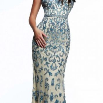 Damask sequined prom dresses by Faviana