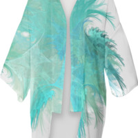 AquaFeather KIMONO created by Christy Leigh | Print All Over Me