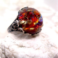 Chinese Dragon Abyss Opal Ring