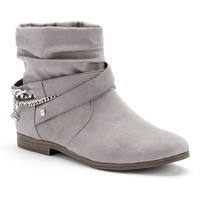 Juicy Couture Grey Kaydan Women's Slouch Ankle Boots