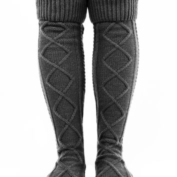 Cozy Boot Socks - Navy / One
