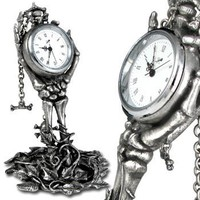 Carpe Hora Gothic Clock - Clocks & Timepieces - Home Stuff - Gothic, Vampire & Steampunk stuff at GothicPlus.com (Powered by CubeCart)