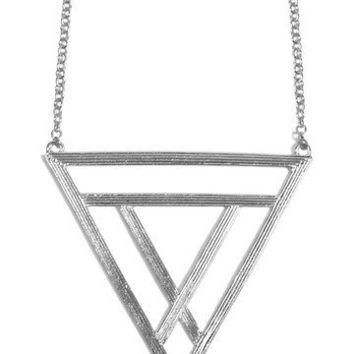 GYPSY WARRIOR - Lunar Triangle Necklace - Silver
