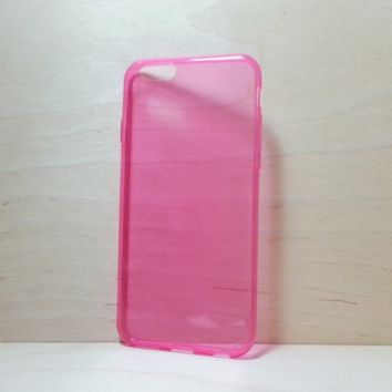 0.3 mm Super Slim TPU Soft Silicone Case for iphone 6 (4.7 inches) - Transparent Rose Pink