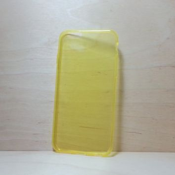 TPU Soft Silicone case for iphone 6 (4.7 inches) - Transparent Yellow