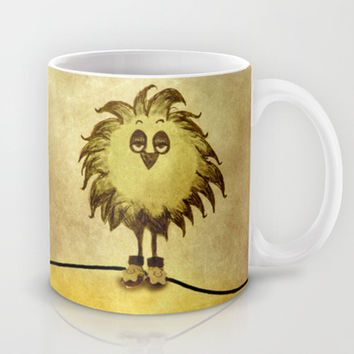Bored Little Bird Mug by SensualPatterns