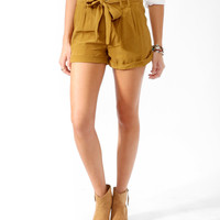 High-Rise Paperbag Waist Shorts