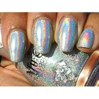 Amazon.com: NFU OH Nail Polish SILVER Holographic Number 61: Health & Personal Care