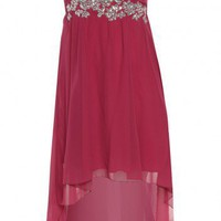 Raspberry Jewel Drop Back Dress