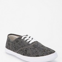 Damask Print Plimsoll Sneaker