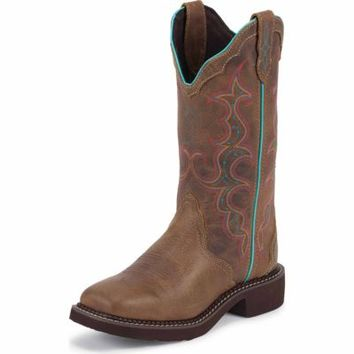 Justin Women's 12 in. Gypsy Cowgirl Collection Boot, Tan Jaguar