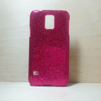 Glitter Case for Samsung Galaxy S5 - Rose Pink