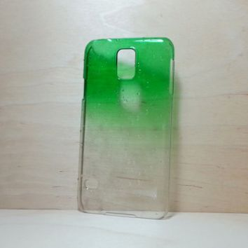 3D Water Droplets Hard Plastic Case for Samsung Galaxy S5 - Green