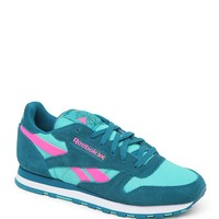 Reebok Classic Leather Suede Sneakers - Womens Shoes - Blue