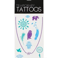 With Love From CA Multi Colored Flash Tattoos - Womens Scarves - Multi - One
