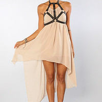 The Harness Dress in Nude