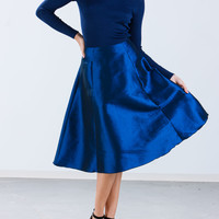 Front Of The A-Line Taffeta Skirt