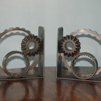 Industrial Inspired Repurposed Car Parts Small Bookends