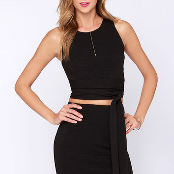Daily Dos Black Two-Piece Dress