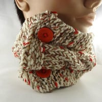 Cowl  Scarf Scarflette  Neckwarmer  Autumn Mixed Colors