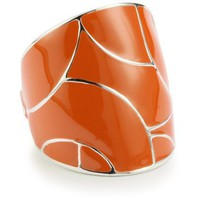ELLE Jewelry &quot;Flying Colors&quot; Orange Enamel Sterling Silver Ring, Size 7 - designer shoes, handbags, jewelry, watches, and fashion accessories | endless.com