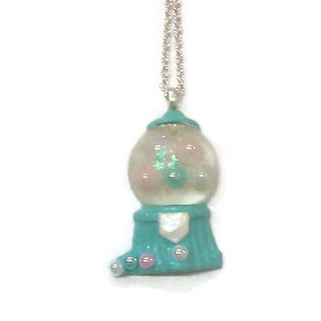 Gumball Machine Necklace Light Blue Jewelry, Candy Necklace, Tween Necklace, Teen Accessories, Girl Jewellery, Girls Accessory,