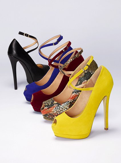 Peep-toe Platform Pump