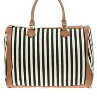 Pieces Earla Stripe Barrel Bag at asos.com