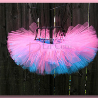 Josephine - Layered Aqua and Hot Pink Tutu - Birthday Tutu - Available in Infant, Toddler, Girls, Teenager and Adult Sizes